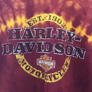 Harley Davidson graphic tie dye t-shirt M